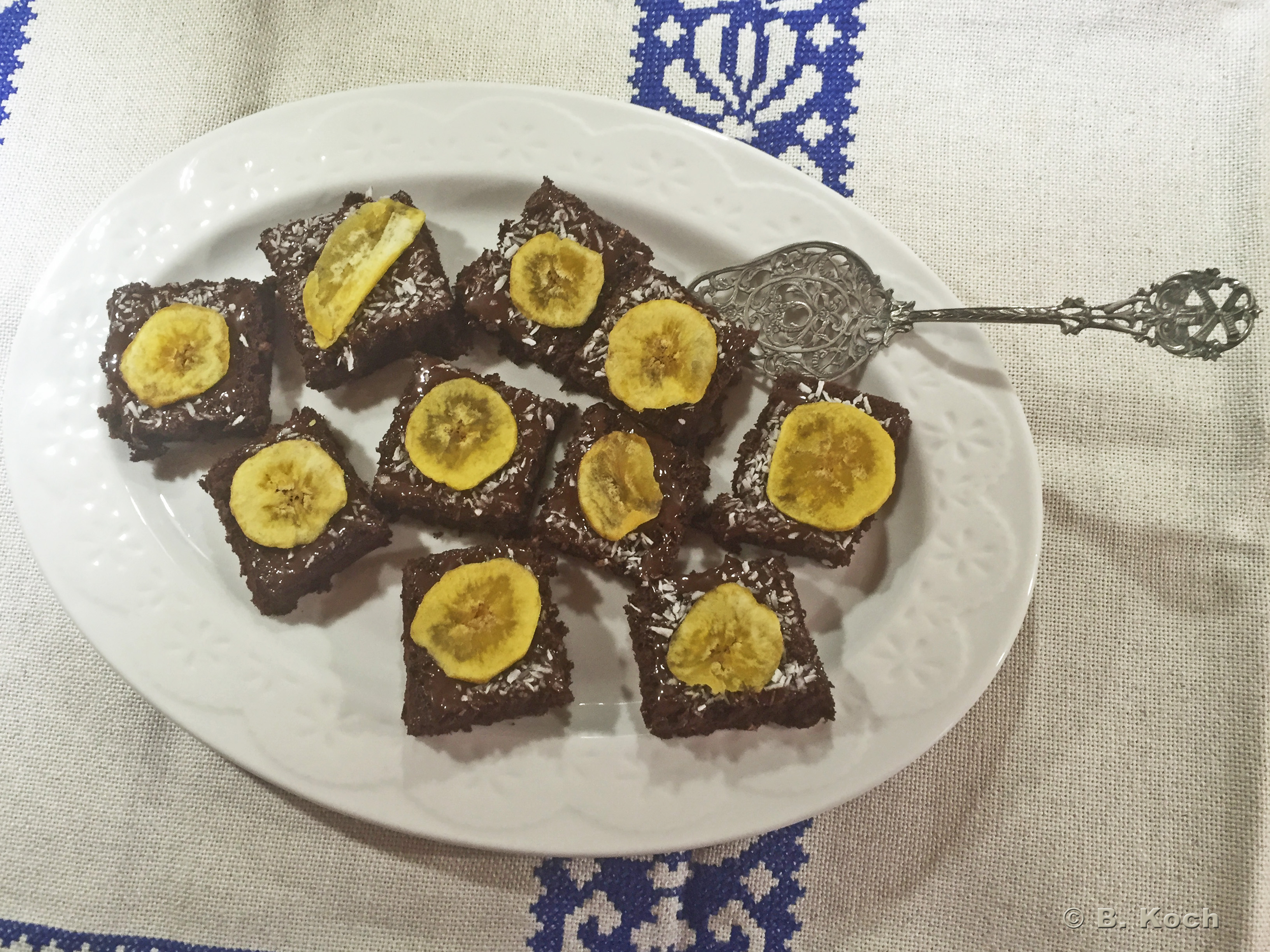 kokos-bananen-brownies